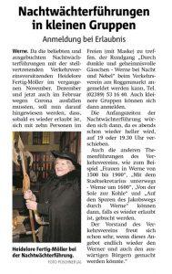Ruhrnachrichten Ausgabe 20.02.2021 Werne