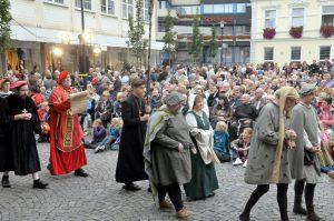 Bilder bisher veranstalteter Stadtspiele, in Zusammenarbeit mit der Freilichtbühne Werne